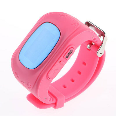 Smart Phone Watch Q50 Kids Anti-lost GPS Tracker Wristwatch For IOS Android Pink