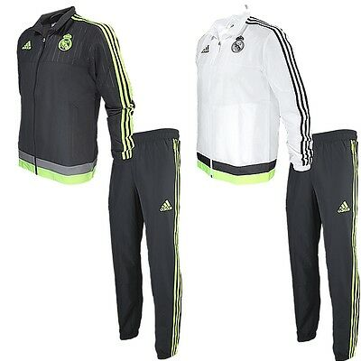 Adidas Real Madrid PR Herren Trainingsanzug 2 Farben Fitness Jogging NEU
