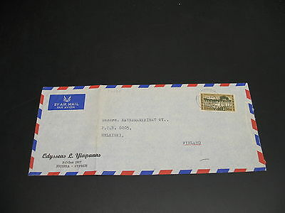 Cyprus 1965 airmail cover to Finland fold *22151