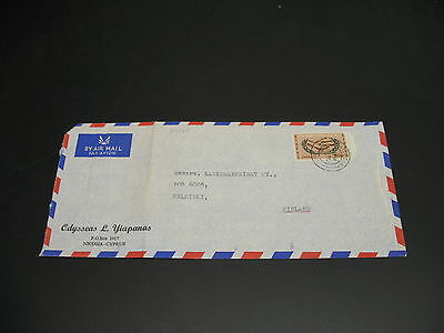 Cyprus 1965 airmail cover to Finland fold *22152