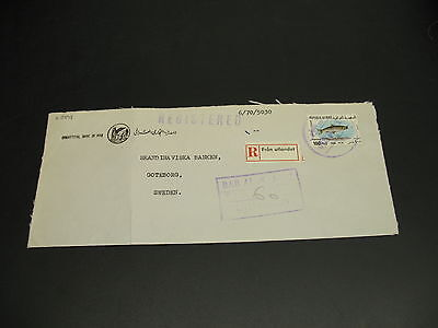 Iraq 1970 Registered airmail cover to sweden fold *22898