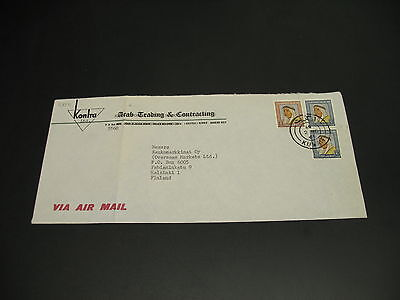 Kuwait 1965 airmail cover to finland fold *21854