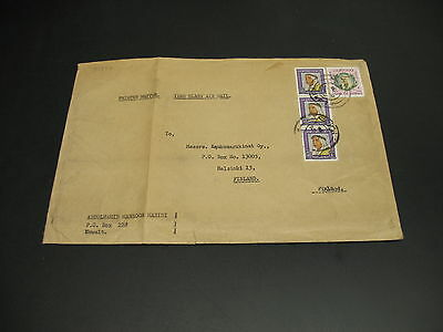 Kuwait 1960s airmail cover to Finland fold *81887