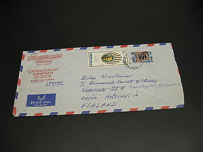 Lebanon 1978 airmail cover to Finland faults *22914