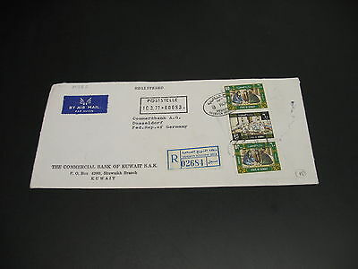 Kuwait 1977 registered airmail cover to Germany *81882