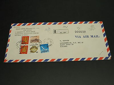 Korea 1978 registered airmail cover to finland *23227
