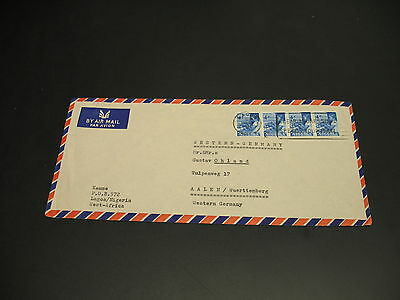 Nigeria 1961 airmail cover to Germany *22014