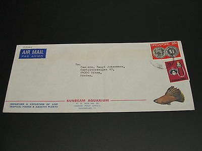Singapore 1970s airmail cover to Sweden *23074
