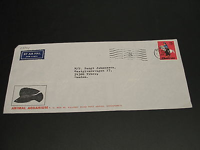 Singapore 1971 airmail cover to Sweden *23064