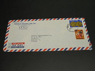 Singapore 1972 airmail cover to Finland *23057