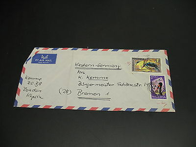 Nigeria 1968 airmail cover to Germany fold *22017