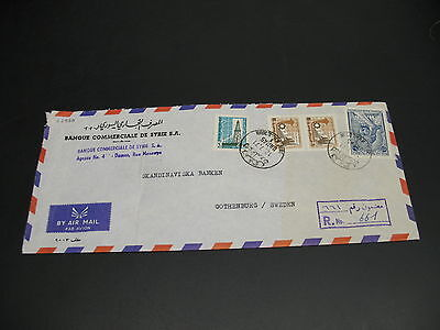 Syria 1971 registered airmail cover to Sweden fold *22930