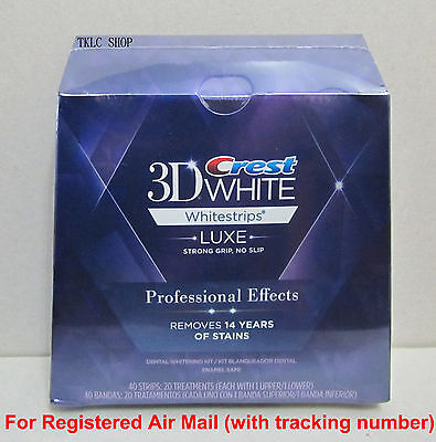 Crest 3D White Luxe Whitestrips Professional Effects Whitening 40strips/20pouche