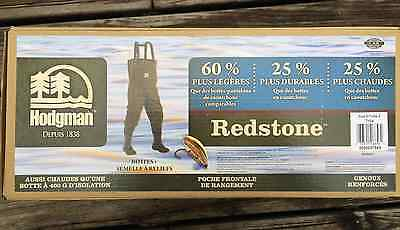 HODGMAN Redstone Chest Wader Insulated Breathable Size 8 MEN'S SIZE 9 WOMEN'S