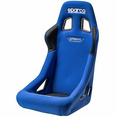 Sparco Sprint Rally/Race Car FIA Approved Bucket Seat - Standard Size - Blue