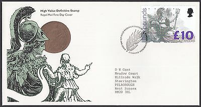 1993  £10 Britannia Definitive  - With Insert Card   Fdc   (1651)