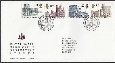 1992  £1 - £5 Castle Definitives  - With Insert Card   Fdc   (1654)