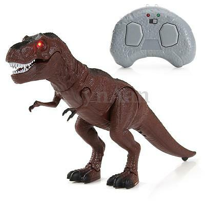 Walking Remote Control Dinosaur Toy Model  Light Up Sound Action Figure Infrared