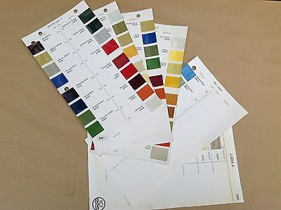 Lada ICI Classic Car Paint Colour Chip Chart Pages 1974 - 1983