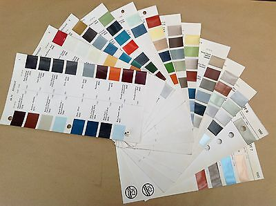 Peugeot  ICI Classic Car Paint Colour Chip Chart Pages 1968 - 1983