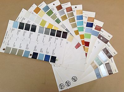 Opel Germany  ICI Classic Car Paint Colour Chip Chart Pages 1968 - 1983