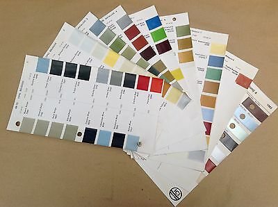 Opel Belgium  ICI Classic Car Paint Colour Chip Chart Pages 1968 - 1982