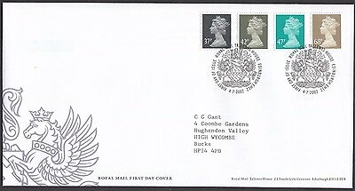 2002  37p – 68p MACHIN DEFINITIVES  - WITH INSERT CARD  FDC  (1671)