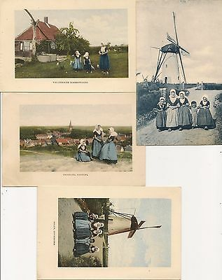 Old Postcards-4 Cards Various DUTCH THEMED CHILDREN GROUPS.
