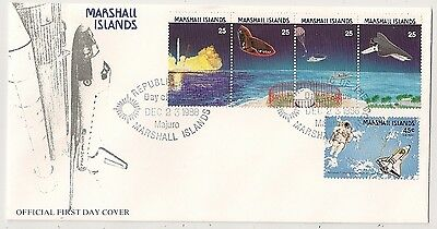 Cover Marshall Island Astronaut And Space Shuttle. First Day. L361