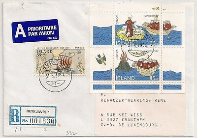Cover Islande Iceland Reyjavik To Luxembourg. L532