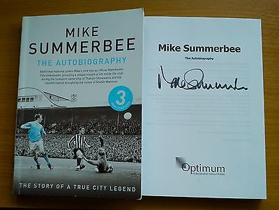 MIKE SUMMERBEE SIGNED The Autobiography Manchester City Updated Edition Book