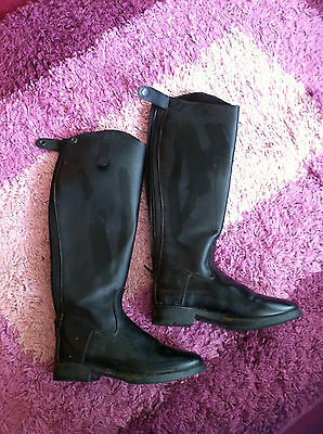 Sherwood Forest Black Long Riding Boots Size 5