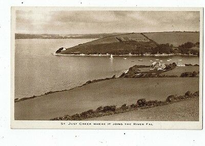Cornish Post Card, St. Just Creek Where It Joins The River Fal