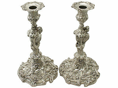 Pair of Sterling Silver Candlesticks - Antique George IV