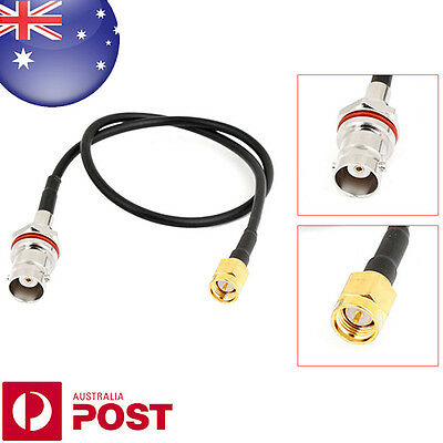 "SMA Male Plug to BNC Female Jack Network Antenna Pigtail Cable 13.3"" - B075"