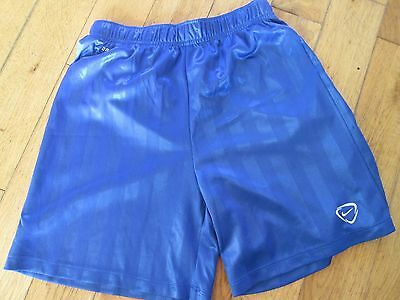 Nike Boys Football Sports Shorts Large Age 12-13 Waist 24-30 Inches Blue Dri Fit