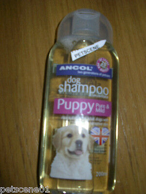 Ancol Dog / Puppy Shampoo 200ml Pure & Mild also suitable for sensitive SKIN