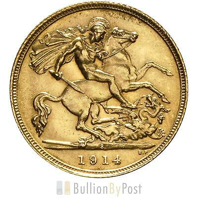 1914 Gold Half Sovereign - King George V - S