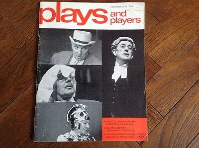 Sept 1971, Plays  And Players Magazine,play-Text, The Bosom Of The Family