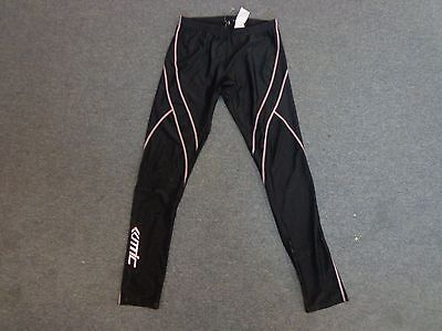 Womens Santic Black Lightweight Cycling Bike Compression Tights Trousers Size L