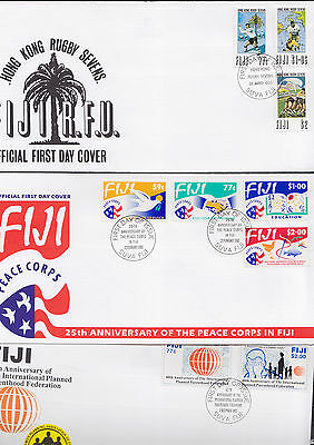 047354 Fiji  FDC First Day Cover`s - Lot