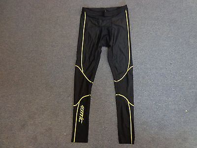 Mens Santic Black Lightweight Cycling Bike Compression Tights Trousers Uk Size L