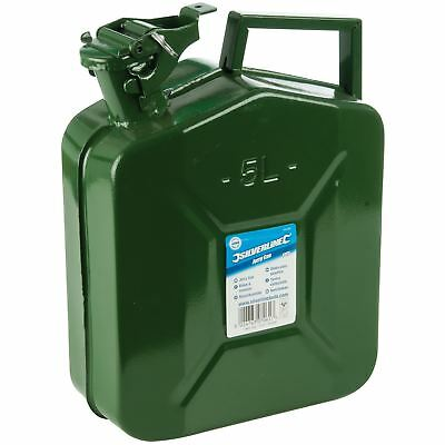 Silverline 5 Litre Metal Jerry Can Fuel Petrol Diesel Gasoline Water Storage