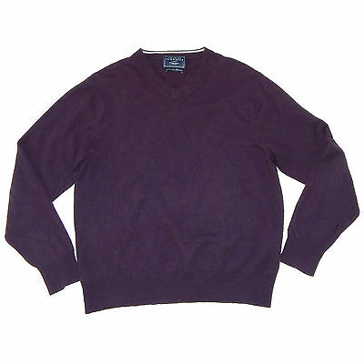 Charles Tyrwhitt Purple V-Neck Cashmere Sweater Mens Large - NO RESERVE AUCTION