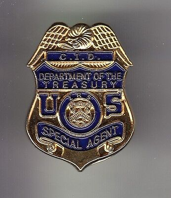 Rare Pins Pin's .. Police Cid Badge Special Agent Department Of Treasury Usa ~Db
