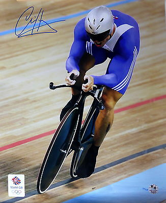 Chris Hoy Olympic Signed 16x20in Photo 'Time Trial'  *Ltd Edition 136/200 *