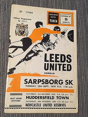 Leeds Utd V Sarpsborg Sk Inter City Fairs Cup 1St Rnd 2Nd Leg 1970