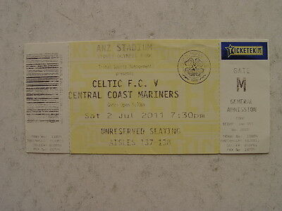 Central Coast Mariners v Celtic 2011 Tour Match Ticket