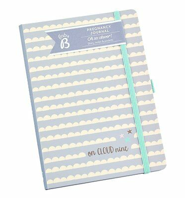 NEW! Busy B Pregnancy Journal Diary Planner Notebook Organiser Clouds