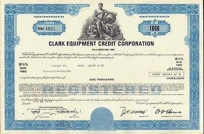 """"""" THE FORKLIFT """" : CLARK EQUIPMENT CREDIT CORP dd 1977"""